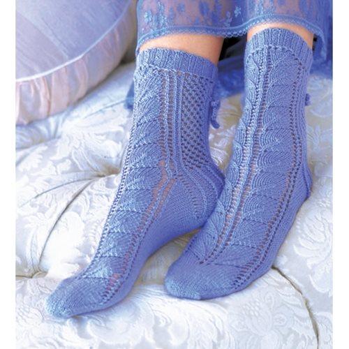 mavi örgü çorap