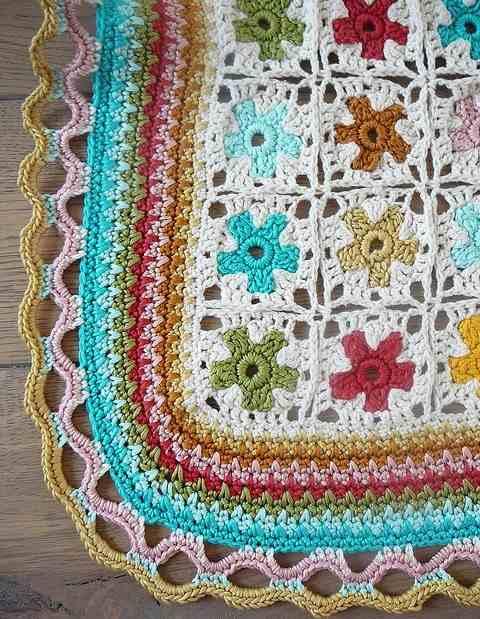 rengarenk motifli battaniye motifleri