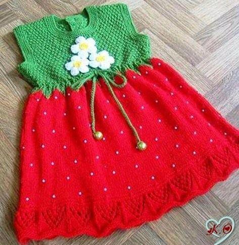 çilek görünümünlü elbise
