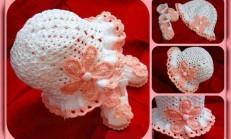 Örgü Bebek Patik Şapka Takımı Tarifi