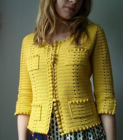 sarı bayan hırka